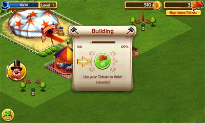Screenshots of the Circus City for Android tablet, phone.