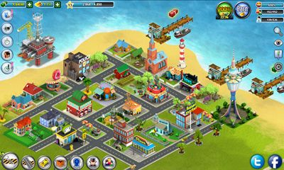 Screenshots of the City Island for Android tablet, phone.
