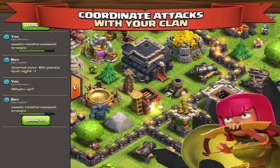 Screenshots of the Clash of clans for Android tablet, phone.