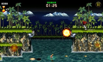 Screenshots of the Contra Evolution for Android tablet, phone.