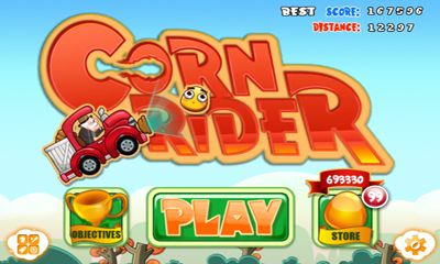Screenshots of the CornRider for Android tablet, phone.