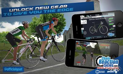 Screenshots of the CRC Pro-Cycling for Android tablet, phone.