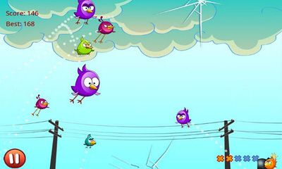 Screenshots of the Cut the Birds for Android tablet, phone.