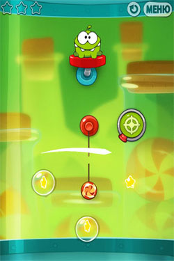 Screenshots of the Cut the Rope: Experiments for Android tablet, phone.