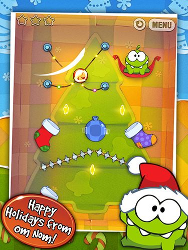 Screenshots of the Cut the rope: Holiday gift for Android tablet, phone.