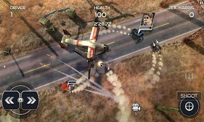 Screenshots of the Death Rally Free for Android tablet, phone.