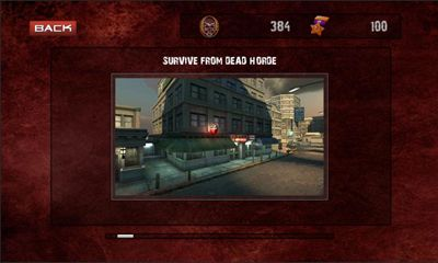 Screenshots of the Death Zone for Android tablet, phone.