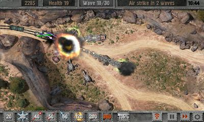 Screenshots of the Defense Zone 2 for Android tablet, phone.