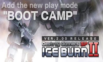 Screenshots of the Destroy Gunners SP II:  ICEBURN for Android tablet, phone.