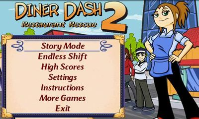 Screenshots of the Diner Dash 2 for Android tablet, phone.