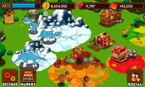 Screenshots of the Dinosaur island for Android tablet, phone.