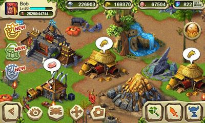 Screenshots of the Dinosaur War for Android tablet, phone.