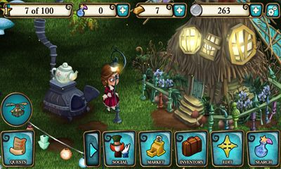 Screenshots of the Disney Alice in Wonderland for Android tablet, phone.