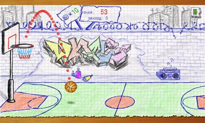 Screenshots of the Doodle Basketball for Android tablet, phone.