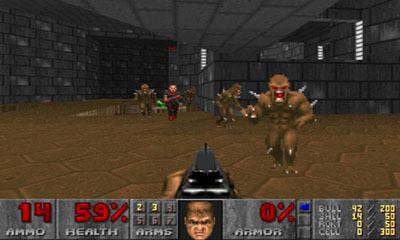 Screenshots of the Doom for Android tablet, phone.