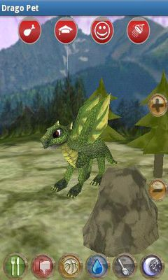 Screenshots of the Drago Pet for Android tablet, phone.