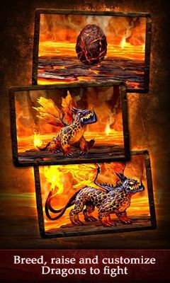 Screenshots of the Dragons of Atlantis for Android tablet, phone.