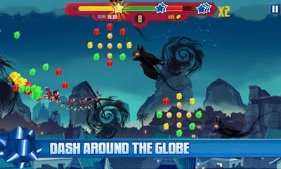 Screenshots of the DreamWorks Rise of the Guardians Dash n Drop for Android tablet, phone.