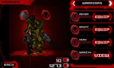 Screenshots of the DROID Combat for Android tablet, phone.