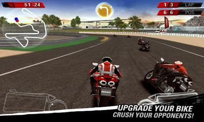 Screenshots of the Ducati Challenge for Android tablet, phone.