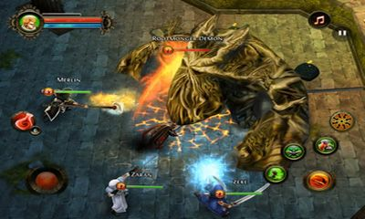 Screenshots of the Dungeon Hunter 2 for Android tablet, phone.