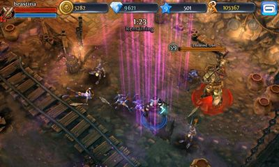 Screenshots of the Dungeon Hunter 3 for Android tablet, phone.