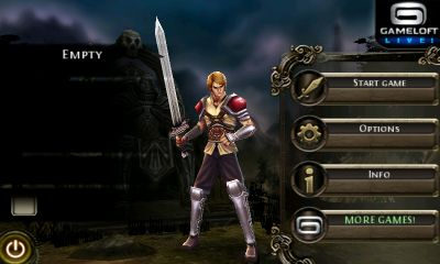 Screenshots of the Dungeon Hunter for Android tablet, phone.