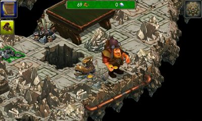Screenshots of the Dwarves' Tale for Android tablet, phone.