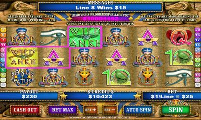 Screenshots of the Egypt Reels of Luxor for Android tablet, phone.