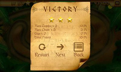 Screenshots of the Egypt Zuma – Temple of Anubis for Android tablet, phone.