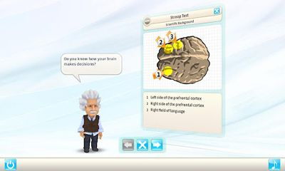 Screenshots of the Einstein. Brain Trainer for Android tablet, phone.
