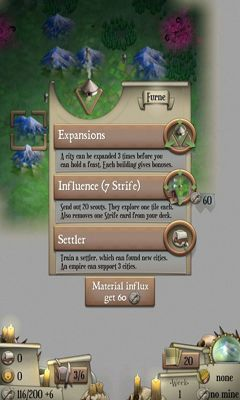 Screenshots of the Empire. Deck Building Strategy for Android tablet, phone.