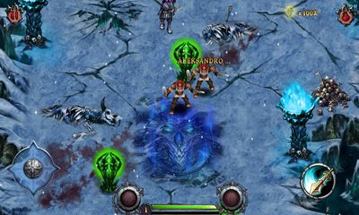 Screenshots of the Eternity Warriors for Android tablet, phone.