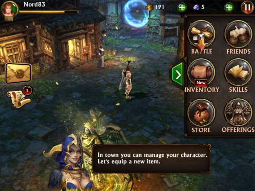 Screenshots of the Eternity warriors 3 for Android tablet, phone.