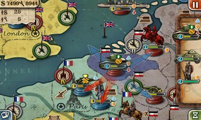 Screenshots of the European War 3 for Android tablet, phone.
