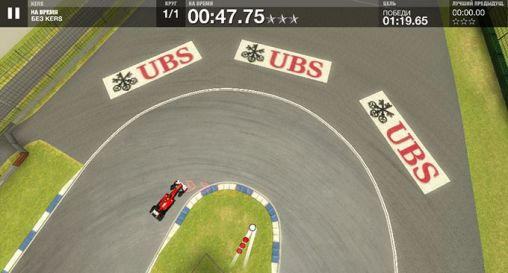 Screenshots of the F1 Challenge for Android tablet, phone.