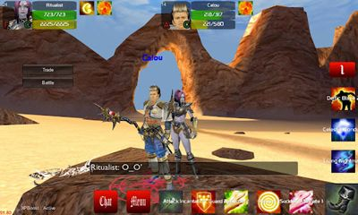 Screenshots of the Faction Wars 3D MMORPG for Android tablet, phone.