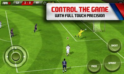 Screenshots of the FIFA 12 for Android tablet, phone.