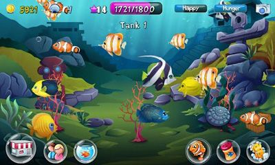 Screenshots of the Fish Adventure for Android tablet, phone.