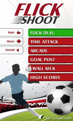 Screenshots of the Flick Shoot for Android tablet, phone.