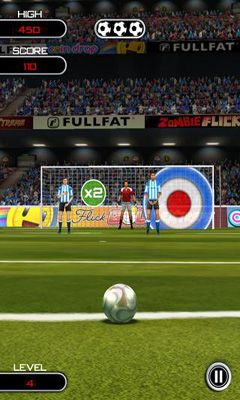 Screenshots of the Flick Soccer for Android tablet, phone.