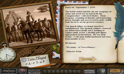 Screenshots of the Forgotten Riddles - The Mayan Princess for Android tablet, phone.