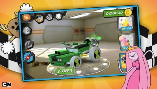 Screenshots of the Formula cartoon: All-stars for Android tablet, phone.