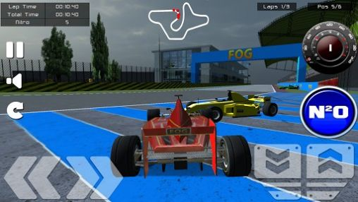 Screenshots of the Formula racing game. Formula racer for Android tablet, phone.
