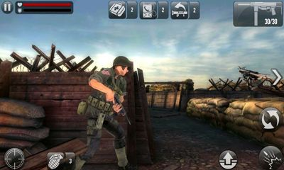 Screenshots of the Frontline Commando D-Day for Android tablet, phone.