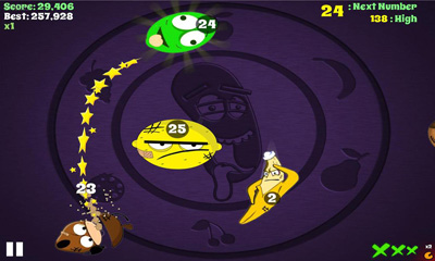 Screenshots of the Froot n Nutz for Android tablet, phone.