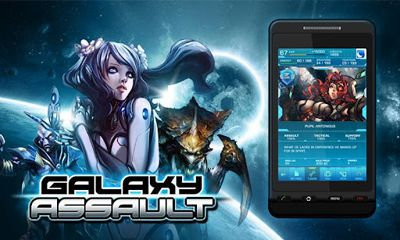 Screenshots of the Galaxy Assault for Android tablet, phone.