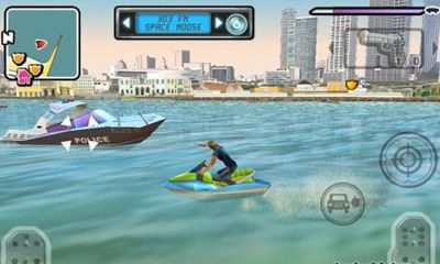 Screenshots of the Gangstar: Miami Vindication for Android tablet, phone.