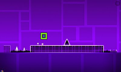 Screenshots of the Geometry Dash for Android tablet, phone.