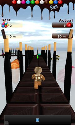 Screenshots of the Gingerbread Run for Android tablet, phone.